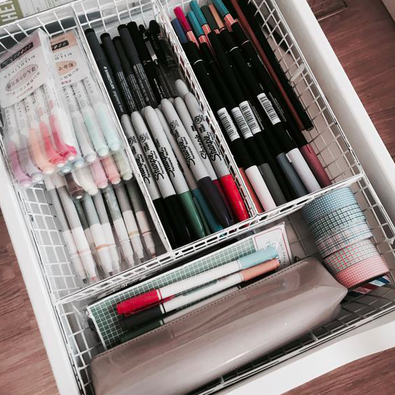 Bullet Journal Supplies Organization Desk Drawers