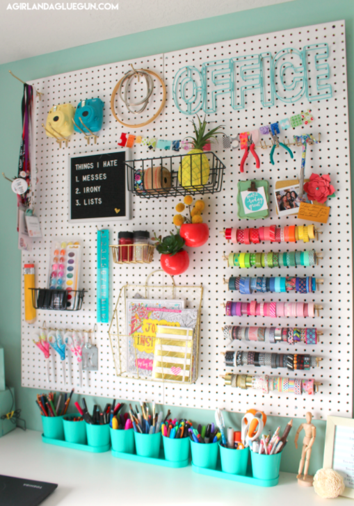 Bullet Journal Supplies Organization Peg Board