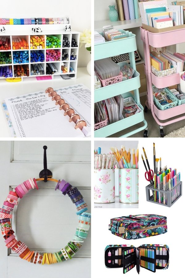 Bullet Journal Supplies Organization Ideas