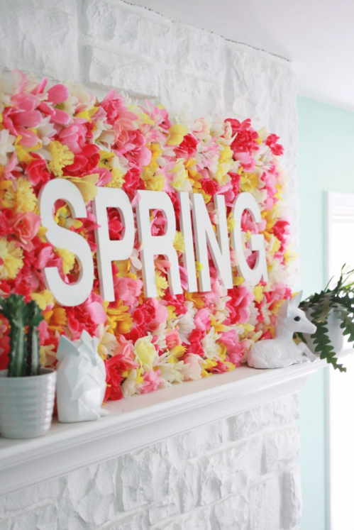 DIY Spring decor wallflowers