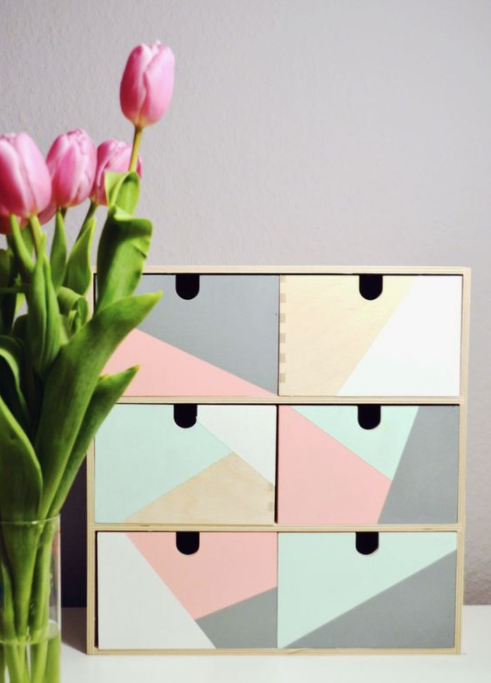 DIY Spring Decor Pastel Drawers