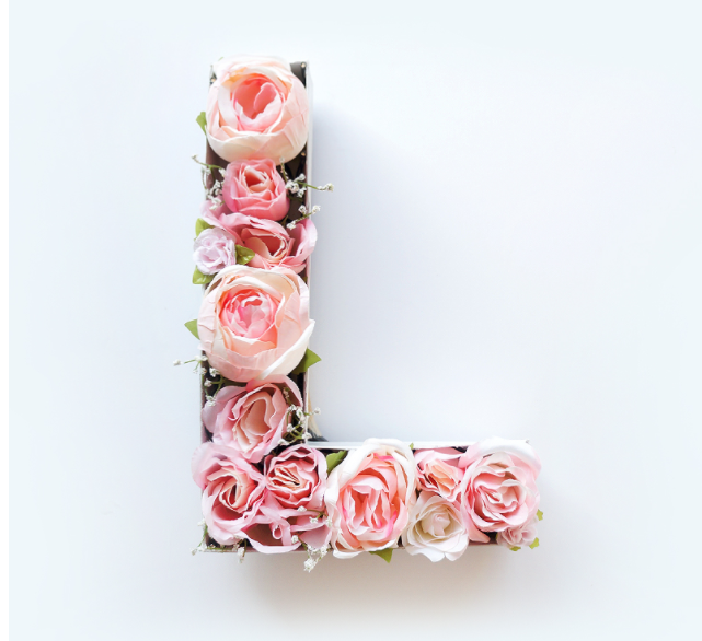 DIY Spring Decor Floral Letter