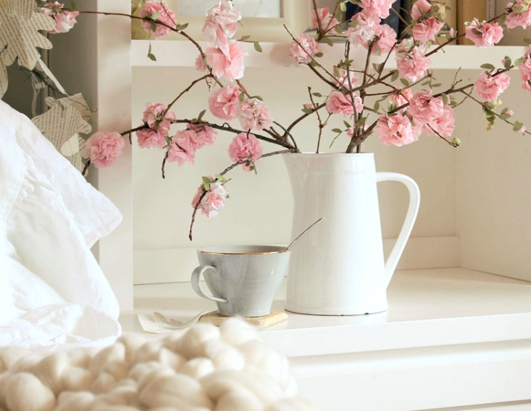 DIY Spring decor paper cherry blossom