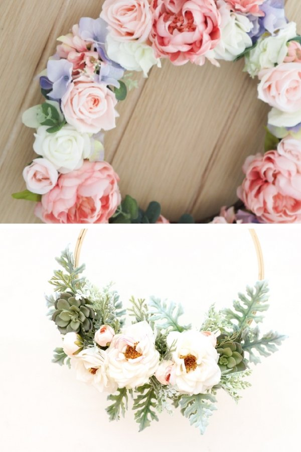 DIY Spring Decor Floral Wreaths