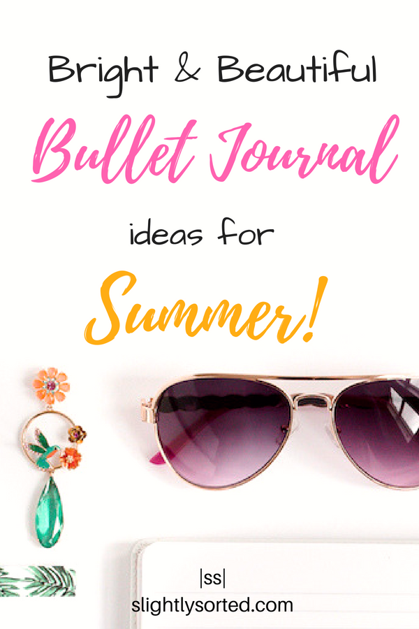 Bright and Beautiful Bullet Journal Monthly Cover Ideas For Summer
