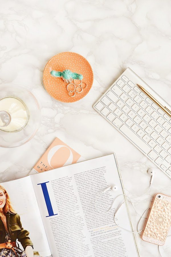Free Online Stock Photos Styled Desktop In Peach