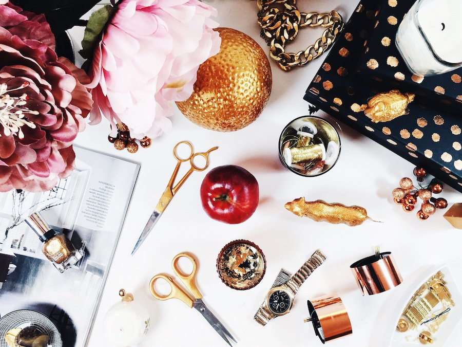 Free Online Stock Photos Styled Stock Photo Pink and Gold Desktop