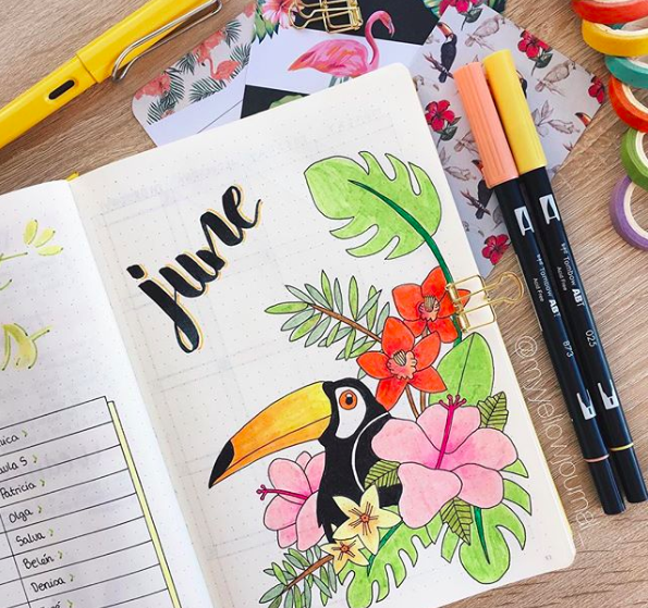 Bullet Journal Monthly Cover Ideas Pretty Pelican