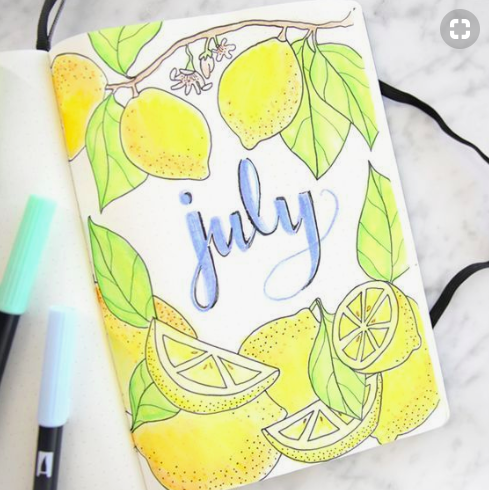 Bullet Journal Monthly Cover Ideas For Summer Lovely Lemons
