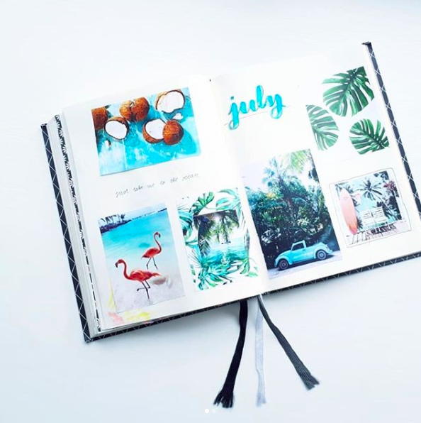 Bullet Journal Monthly Cover Ideas Summer Aqua Images