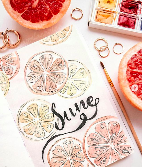 Summer Bullet Journal Cover Ideas Juicy Fruit