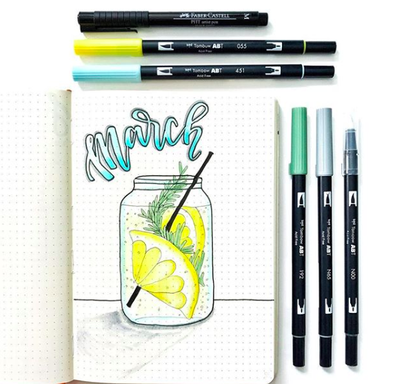 Bullet Journal Cover Page Ideas For Summer