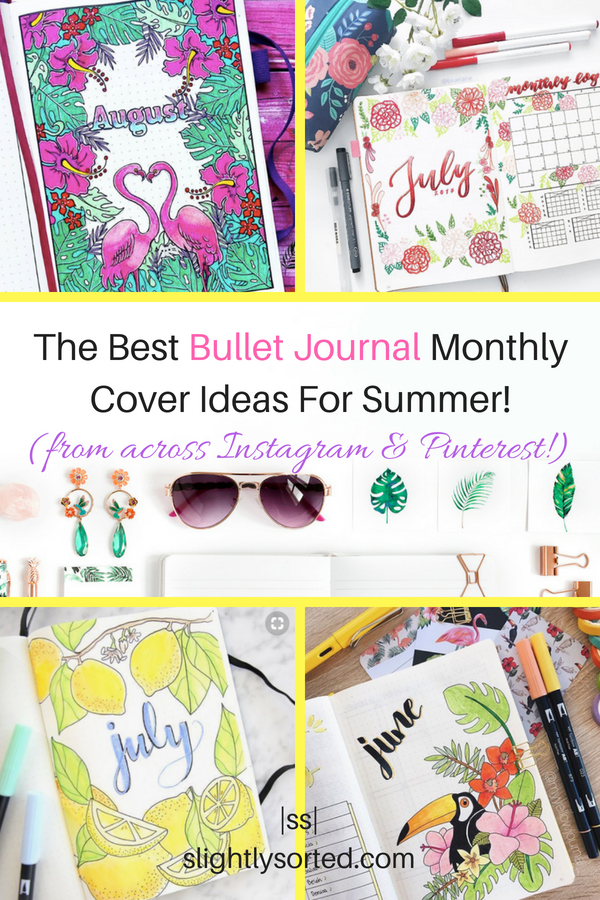 The Best Bullet Journal Monthly Cover Ideas For Summer
