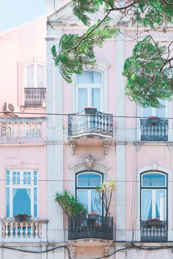 Beautiful pink home