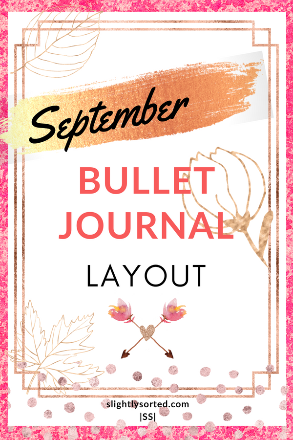 September Bullet Journal Layout