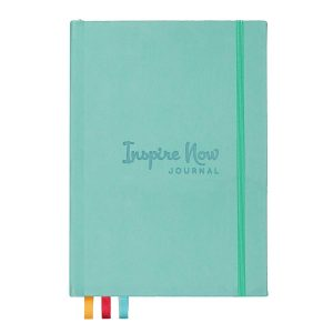 The Inspire Now Journal in light blue