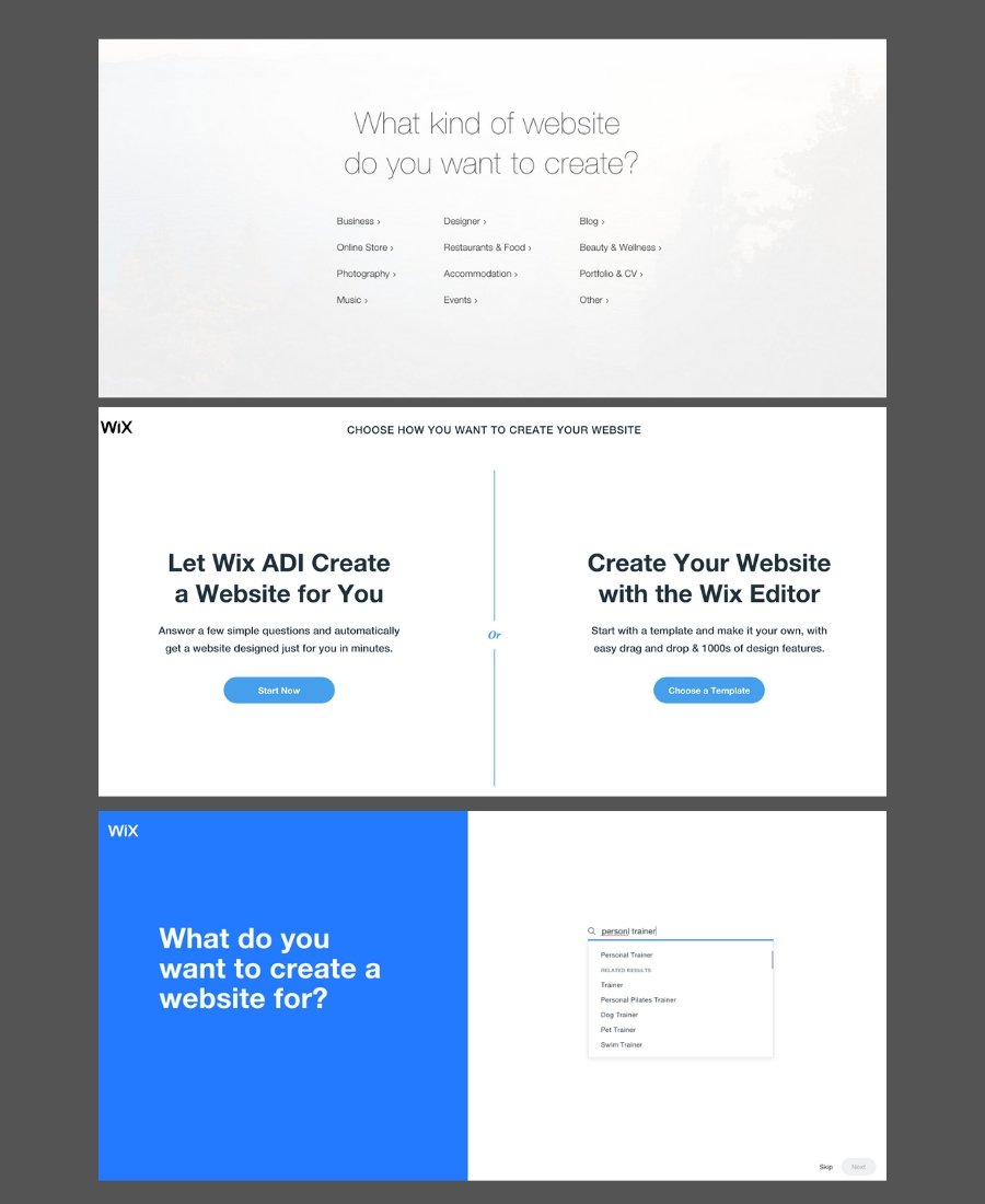Should you use Wix for your website - screenshot showing quick and easy website on Wix