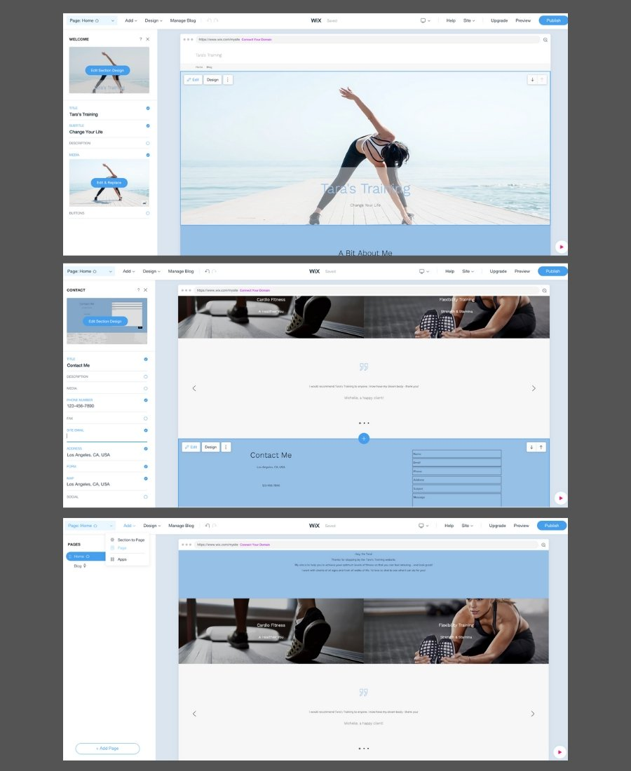 Should you use Wix for your website - screenshot showing how to edit your Wix website